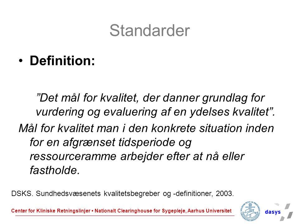 Standarder Definition: