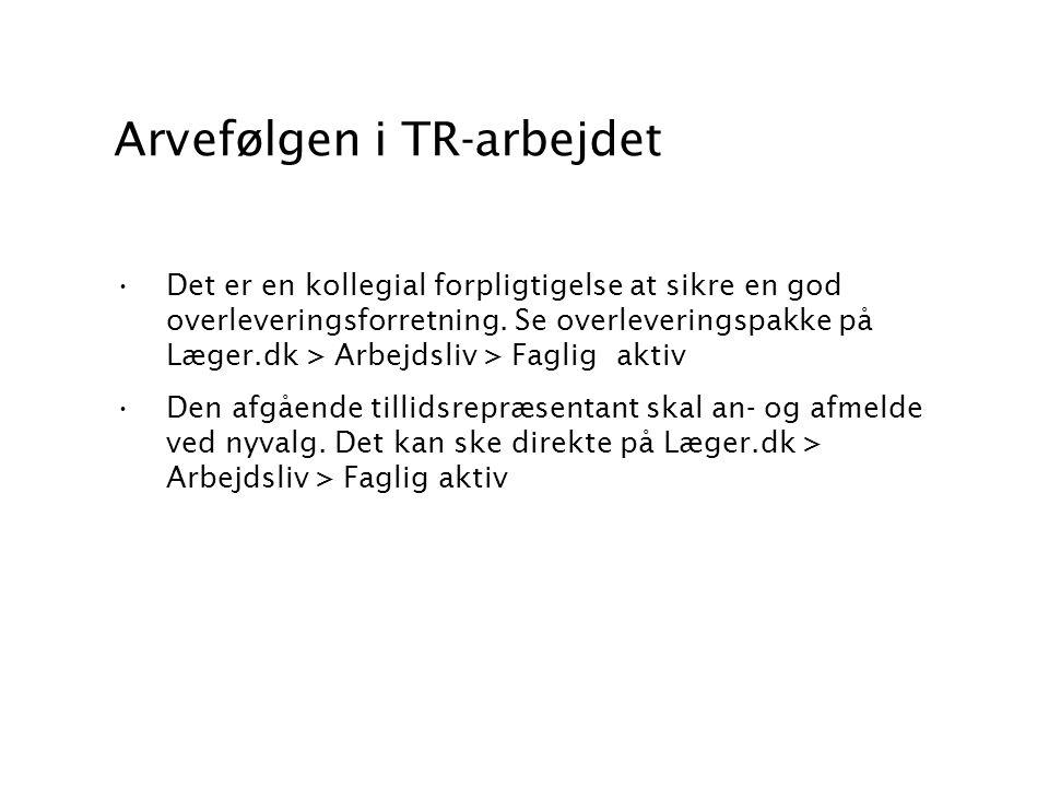 Arvefølgen i TR-arbejdet