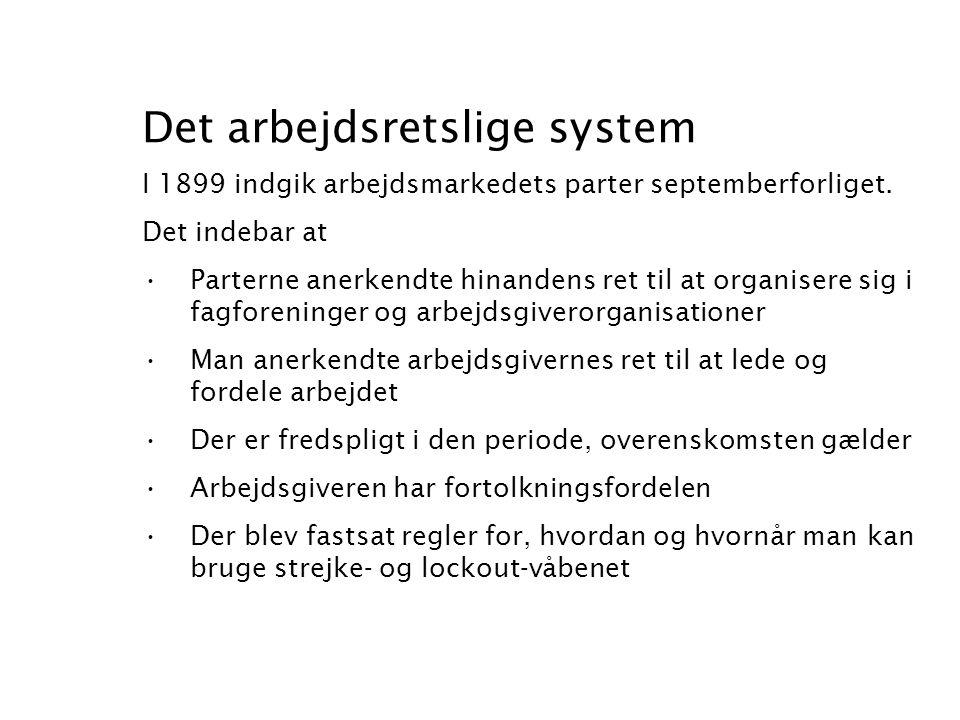 Det arbejdsretslige system
