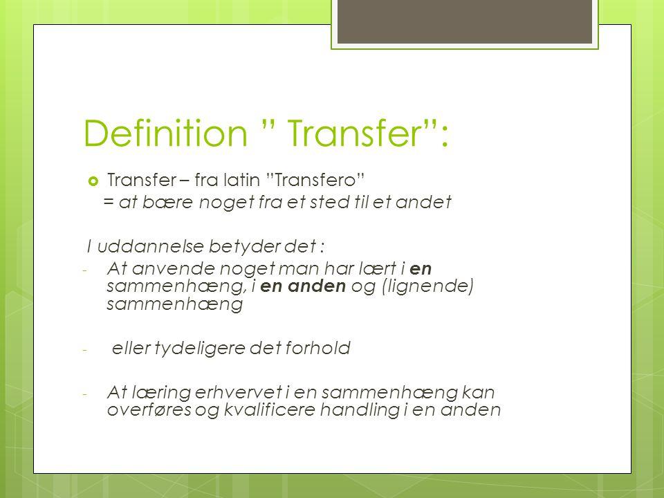 Definition Transfer :