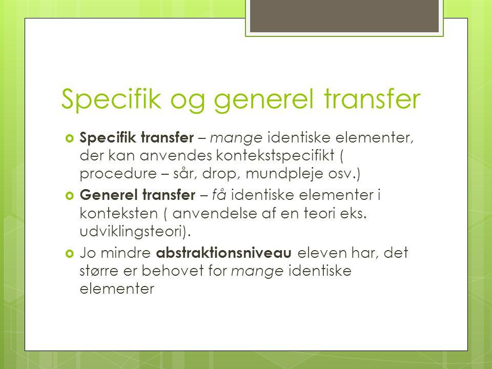 Specifik og generel transfer