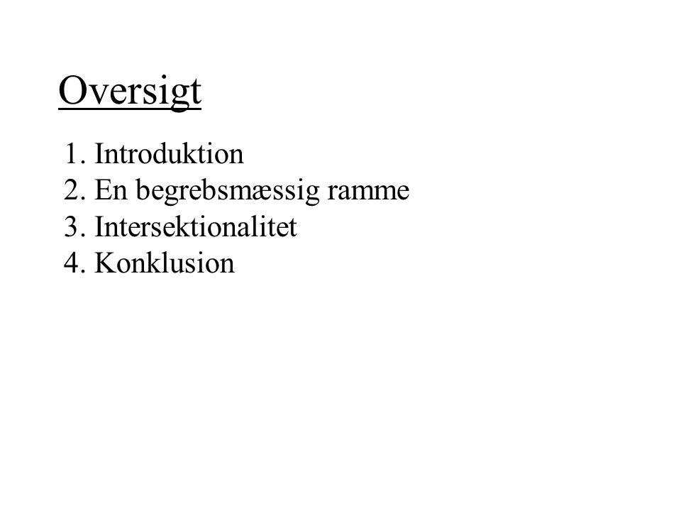 Oversigt 1. Introduktion 2. En begrebsmæssig ramme