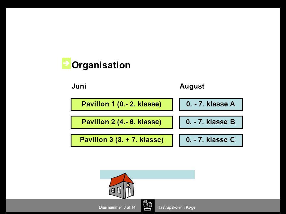 Organisation  Juni August Pavillon 1 (0.- 2. klasse) 0. - 7. klasse A