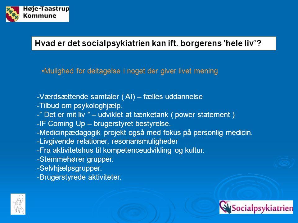 Hvad er det socialpsykiatrien kan ift. borgerens 'hele liv'