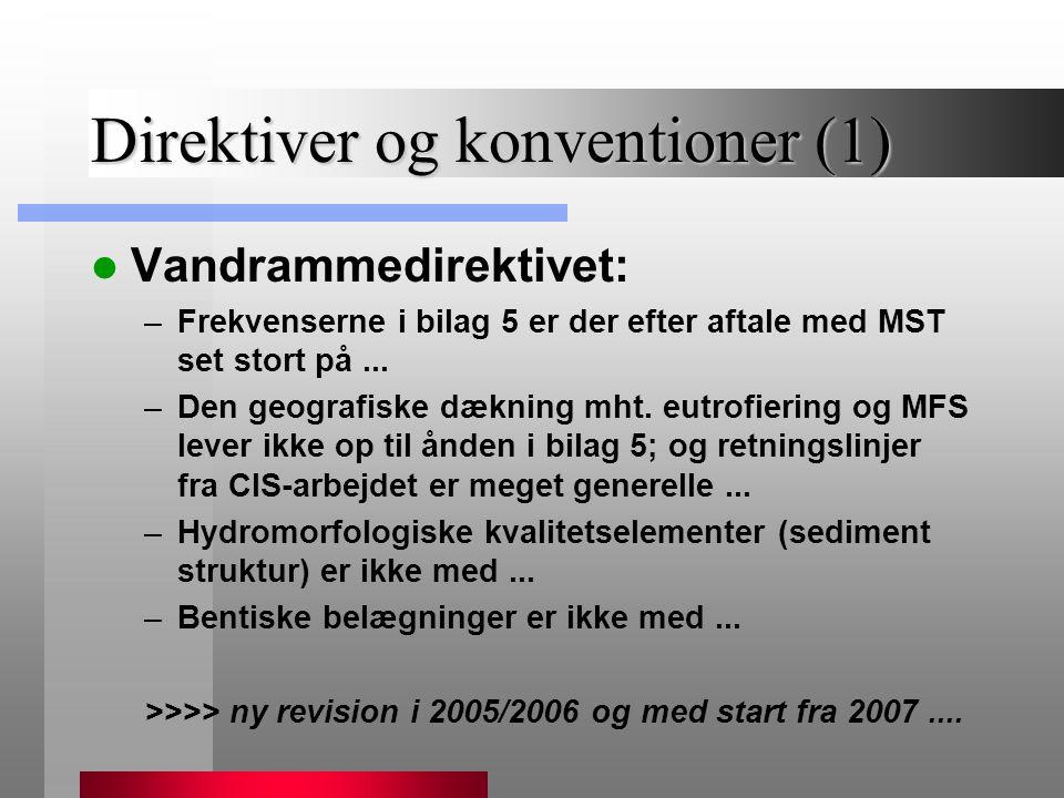 Direktiver og konventioner (1)