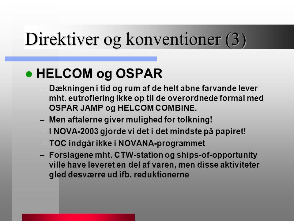 Direktiver og konventioner (3)