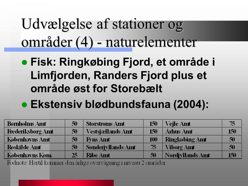 Udvælgelse af stationer og områder (4) - naturelementer