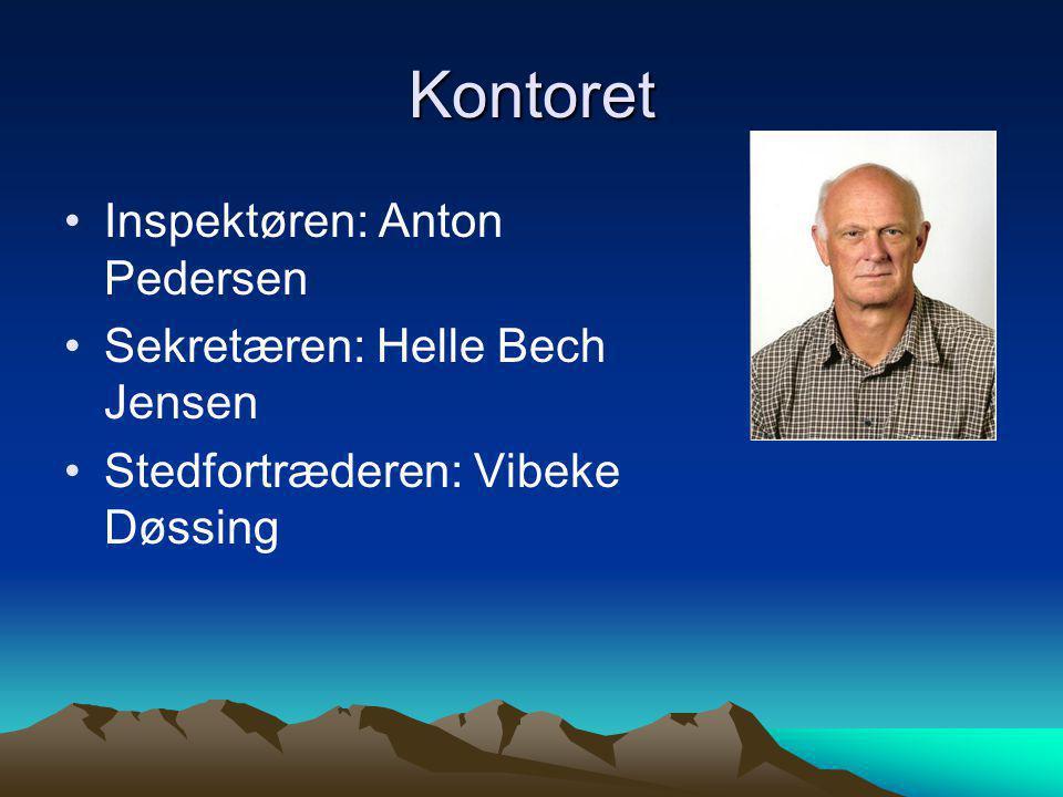 Kontoret Inspektøren: Anton Pedersen Sekretæren: Helle Bech Jensen
