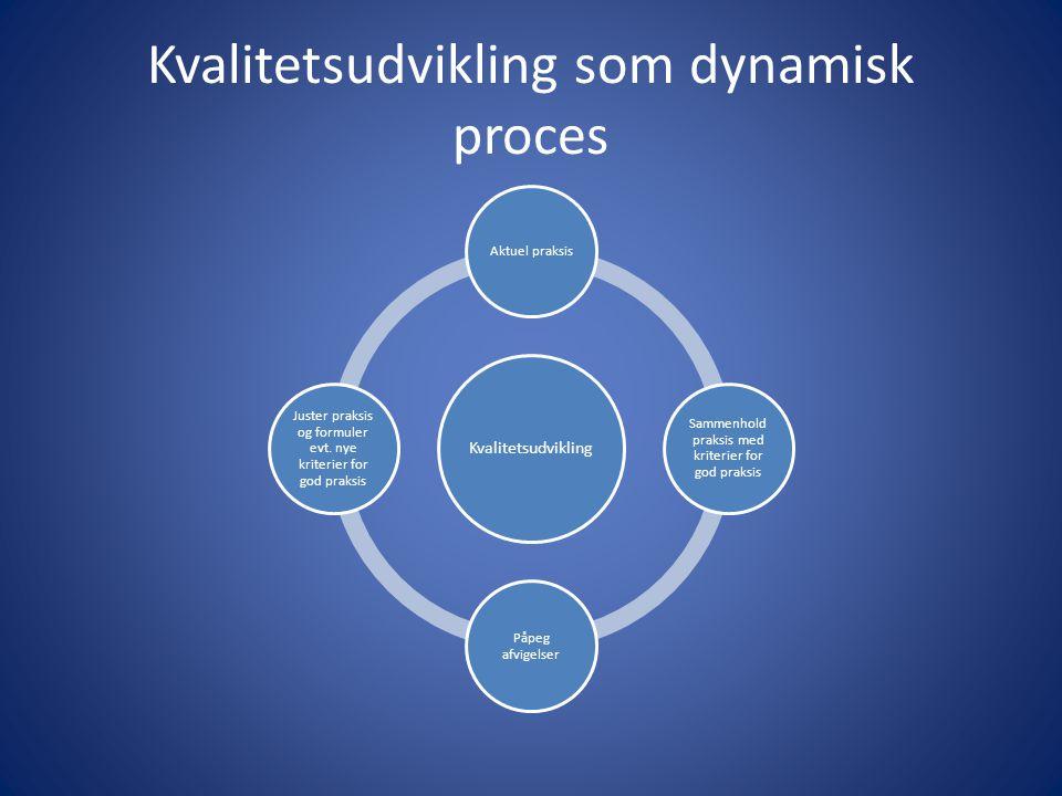 Kvalitetsudvikling som dynamisk proces