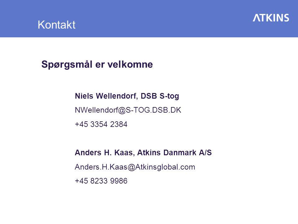 Kontakt Spørgsmål er velkomne Niels Wellendorf, DSB S-tog