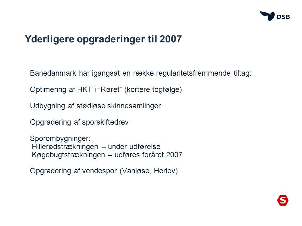Yderligere opgraderinger til 2007