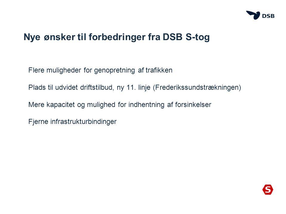 Nye ønsker til forbedringer fra DSB S-tog