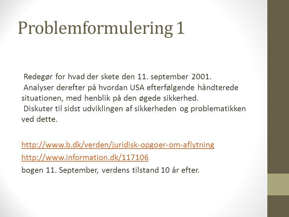 Problemformulering 1