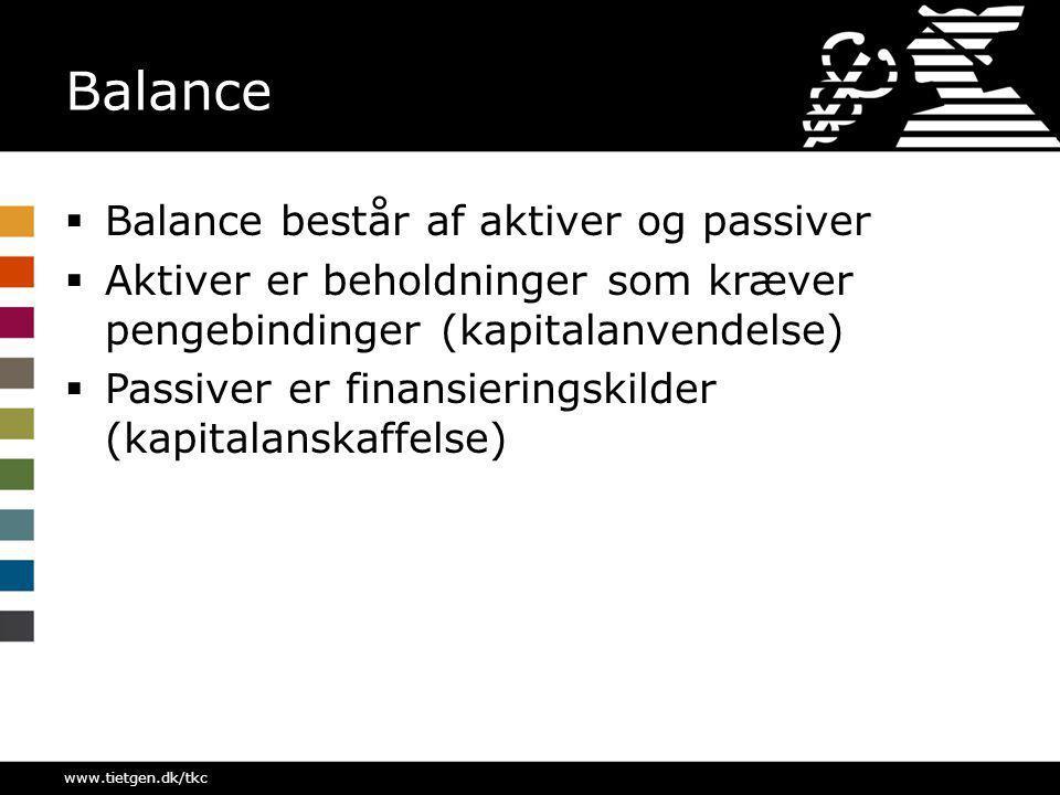 Balance Balance består af aktiver og passiver