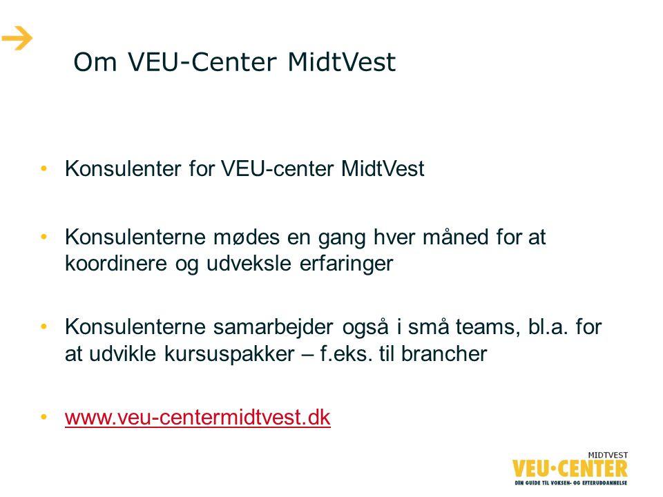 Om VEU-Center MidtVest