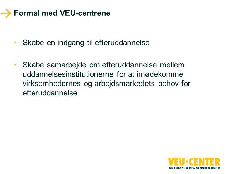 Formål med VEU-centrene