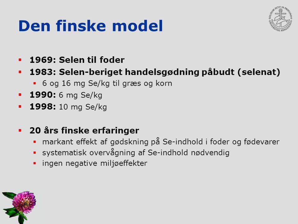 Den finske model 1969: Selen til foder