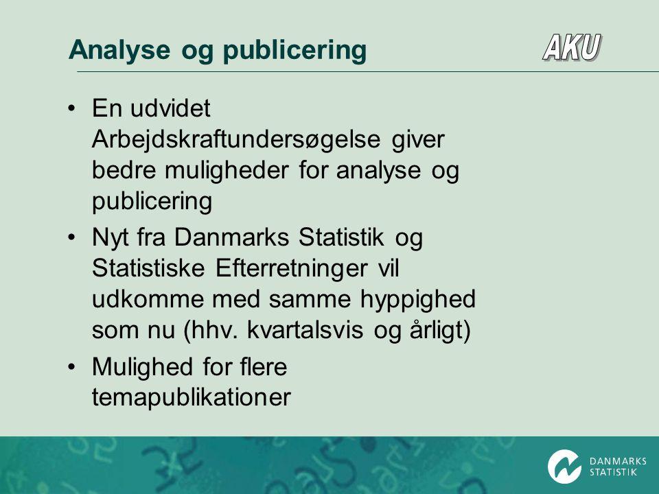 Analyse og publicering