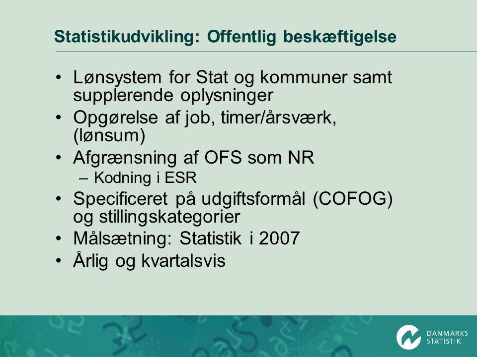 Statistikudvikling: Offentlig beskæftigelse