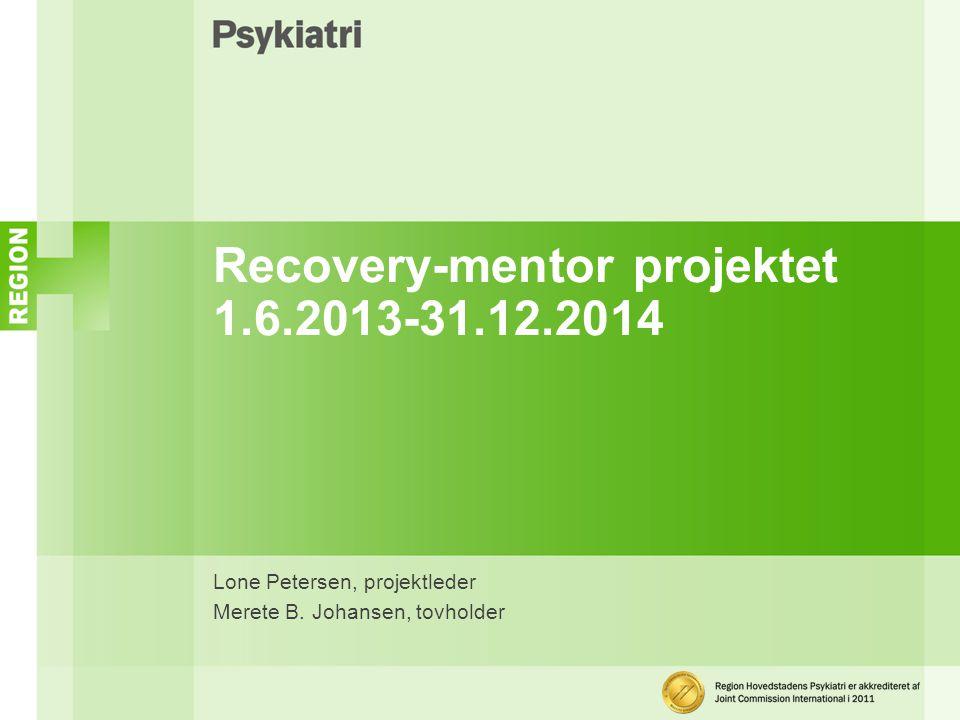 Recovery-mentor projektet 1.6.2013-31.12.2014