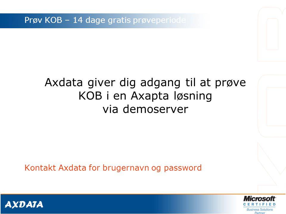 Axdata giver dig adgang til at prøve
