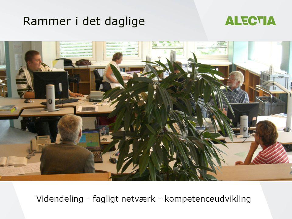 Rammer i det daglige Videndeling - fagligt netværk - kompetenceudvikling