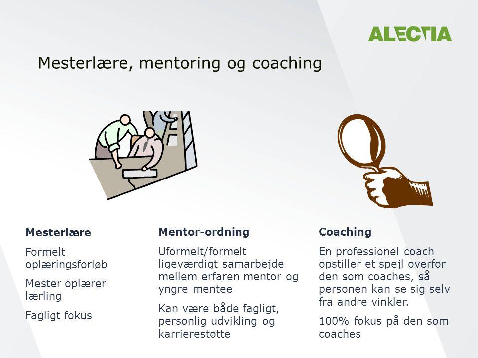 Mesterlære, mentoring og coaching