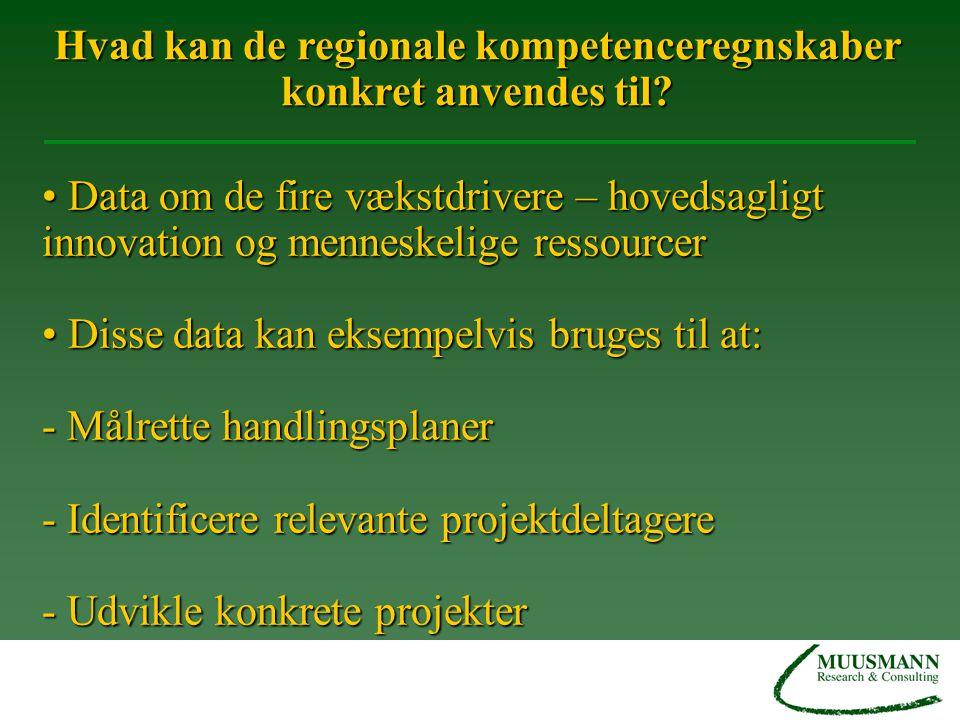 Hvad kan de regionale kompetenceregnskaber konkret anvendes til