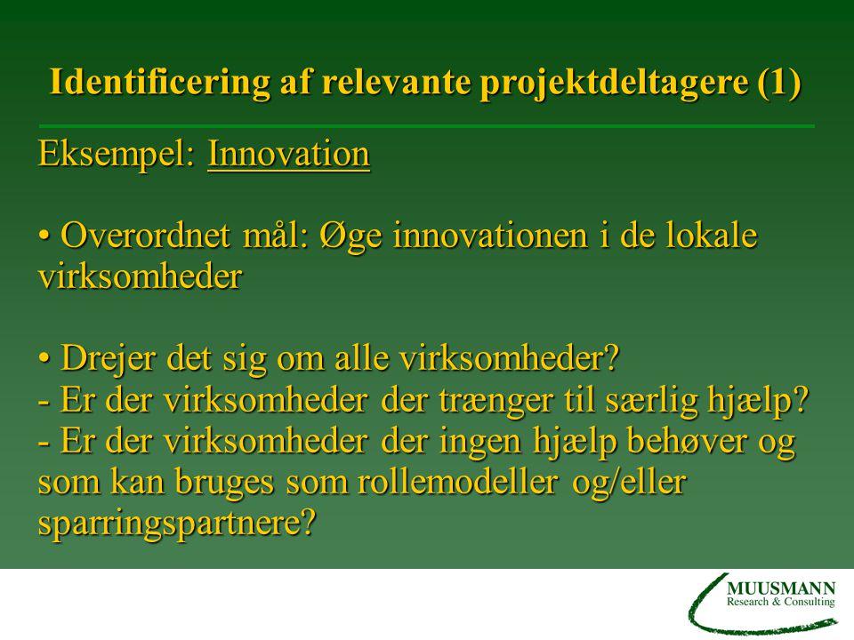 Identificering af relevante projektdeltagere (1)