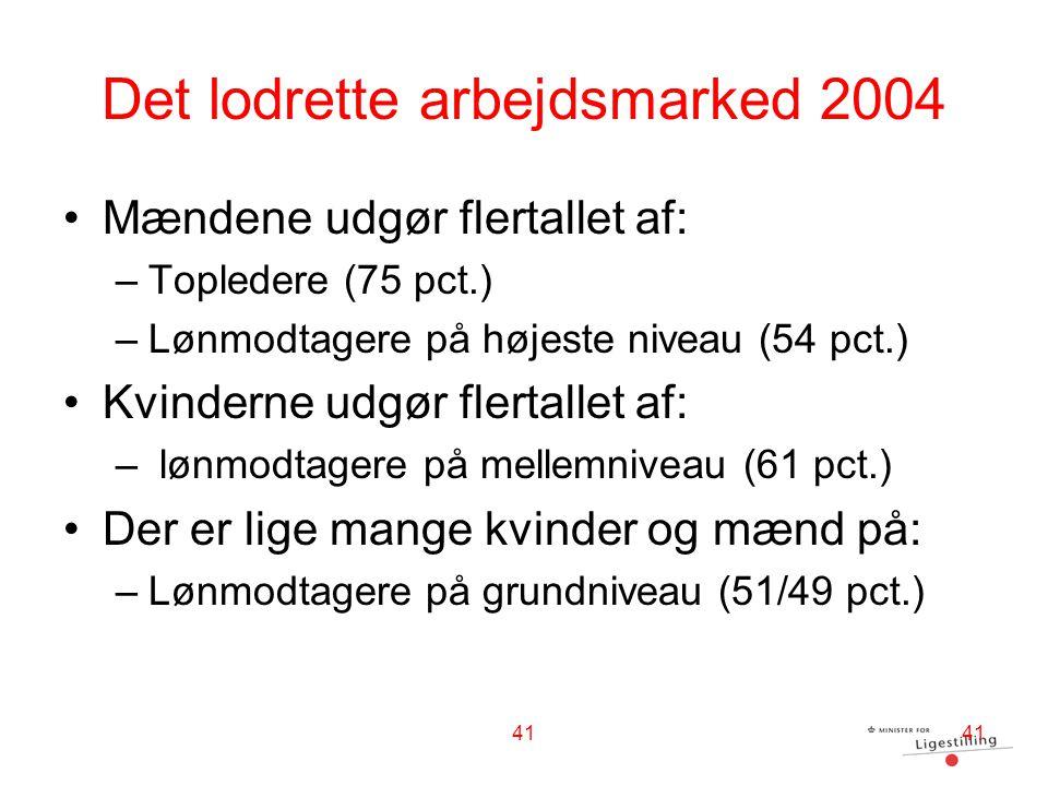 Det lodrette arbejdsmarked 2004