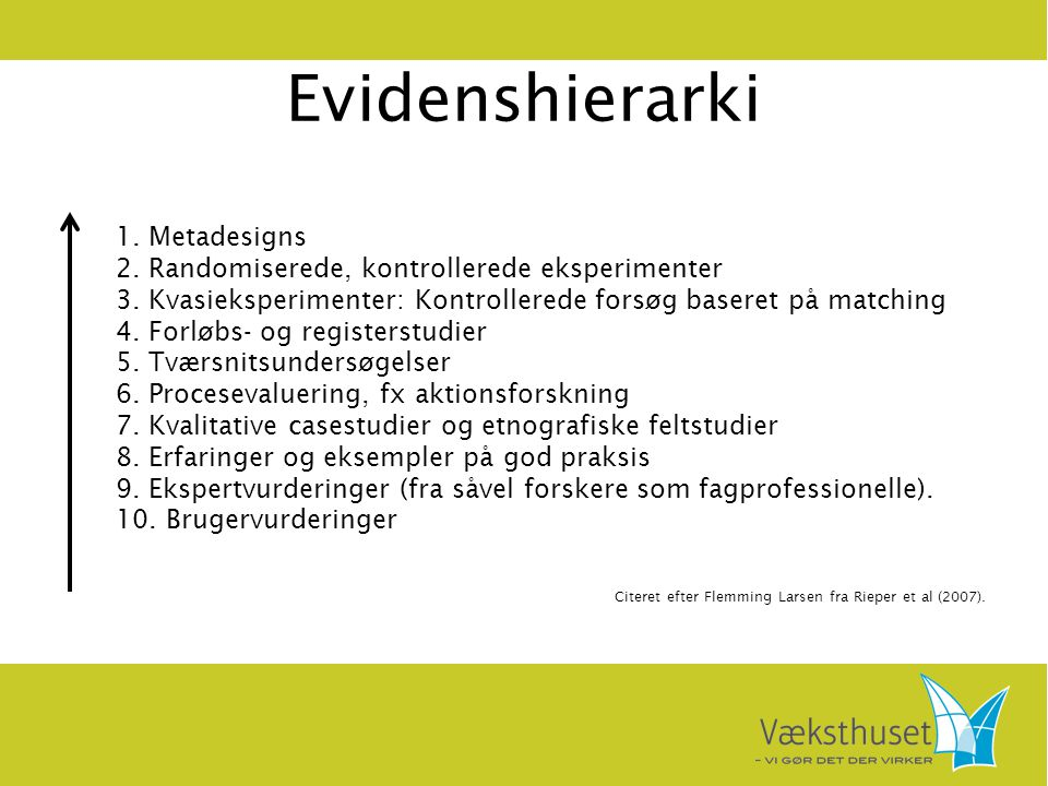 Evidenshierarki 1. Metadesigns