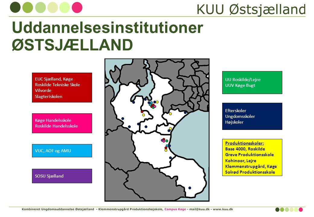 Uddannelsesinstitutioner ØSTSJÆLLAND