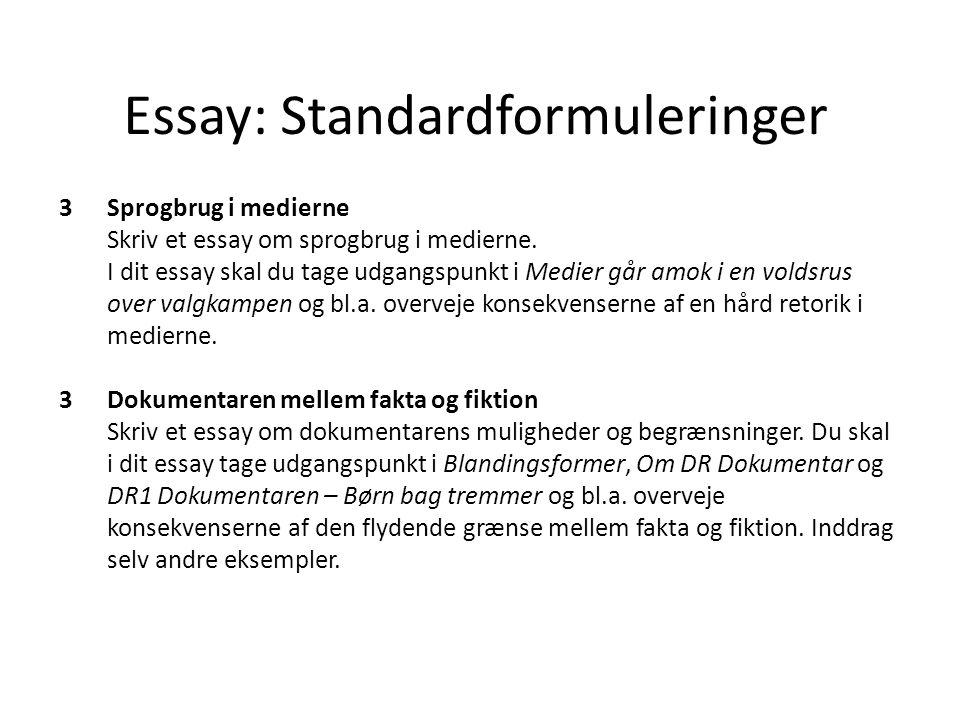 Fakta og fiktion essay writer