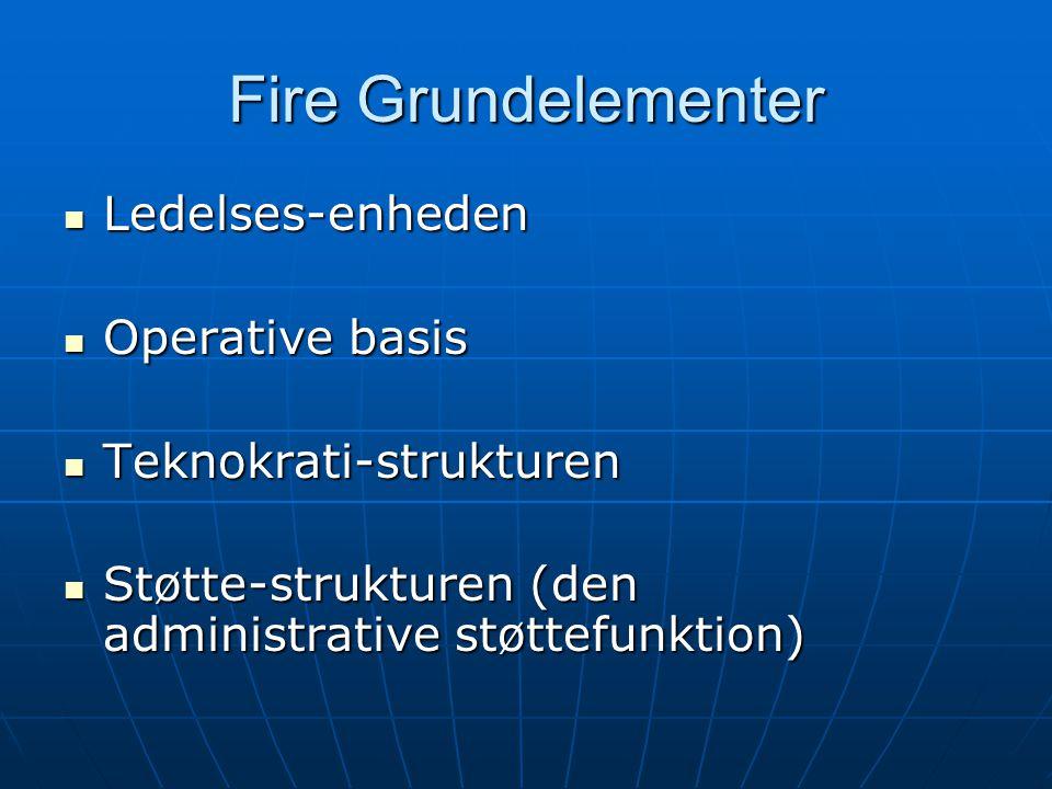 Fire Grundelementer Ledelses-enheden Operative basis