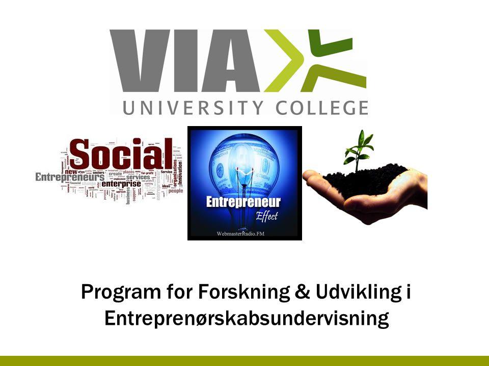 Program for Forskning & Udvikling i Entreprenørskabsundervisning