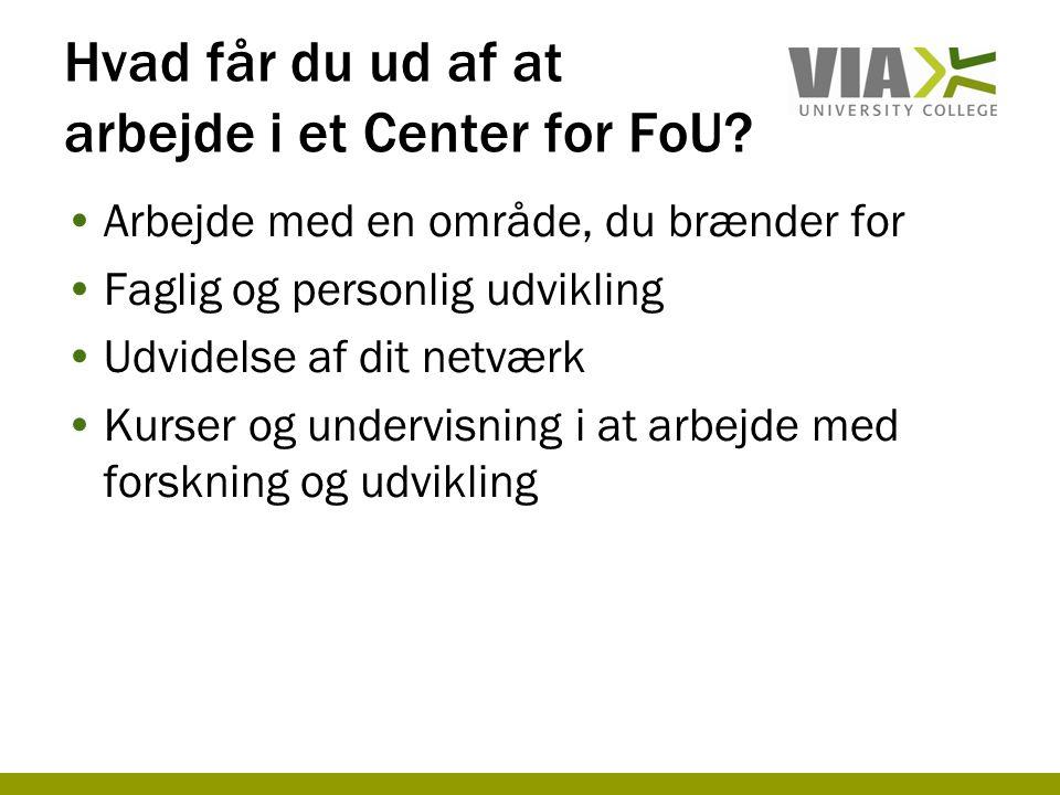 Hvad får du ud af at arbejde i et Center for FoU