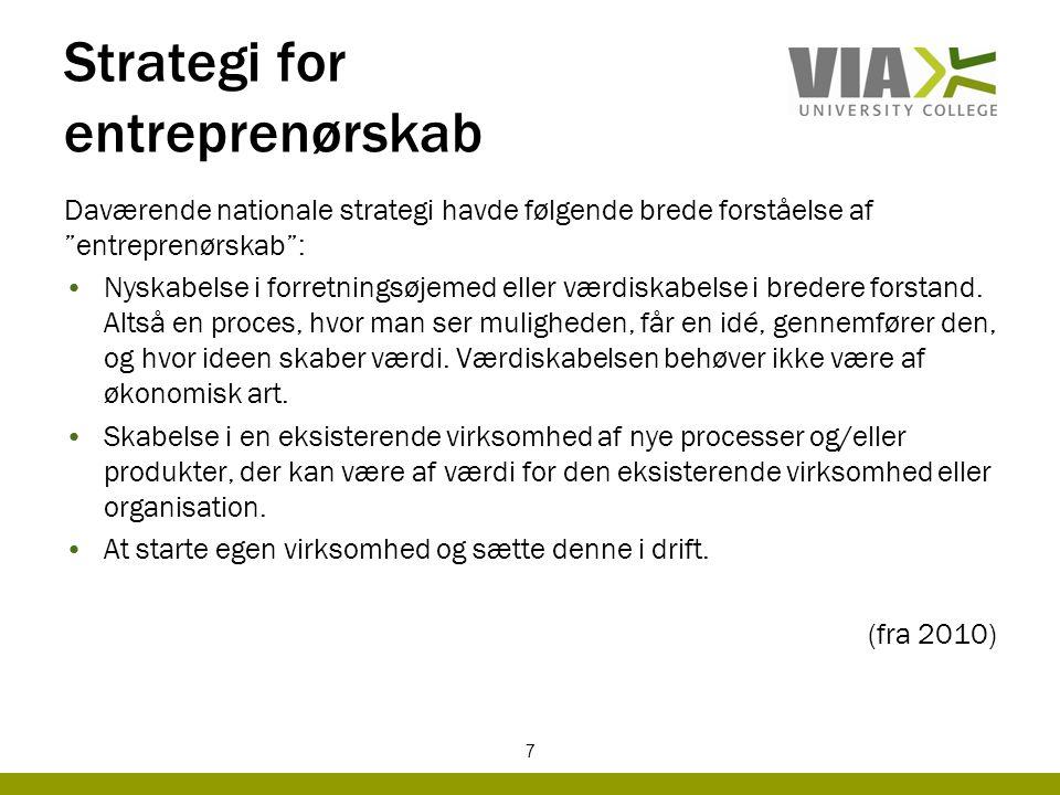 Strategi for entreprenørskab