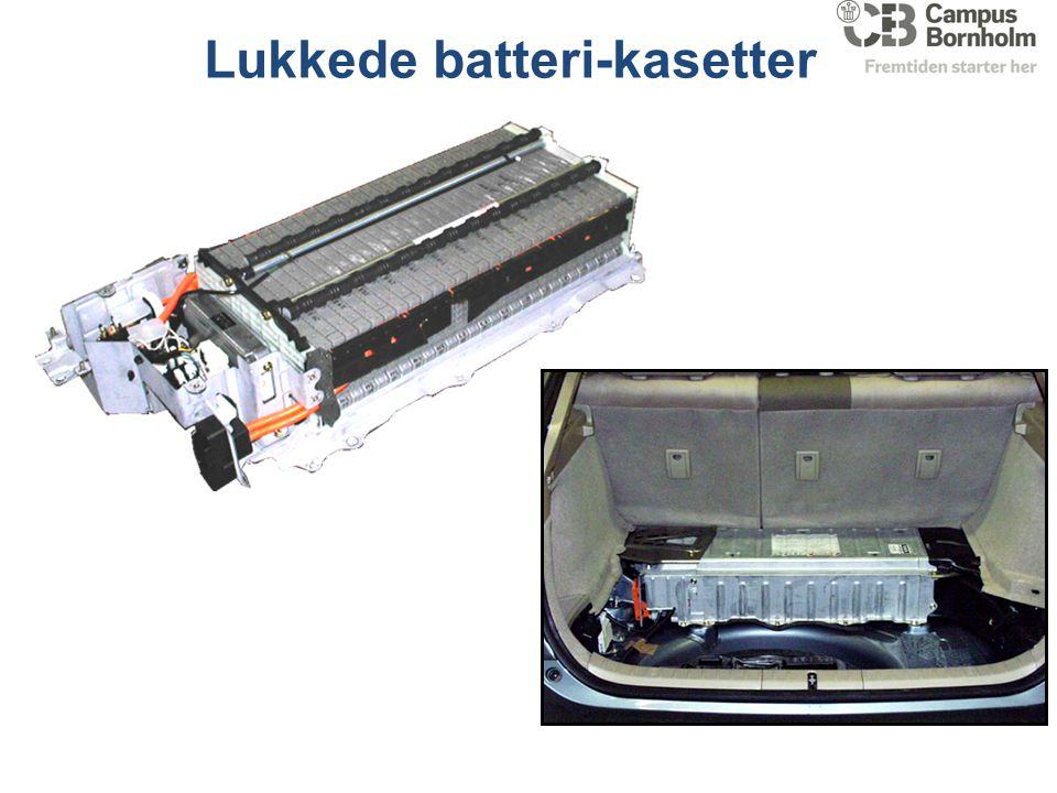 Lukkede batteri-kasetter