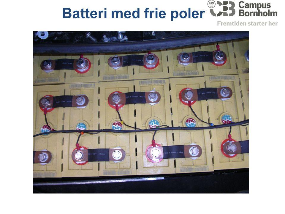 Batteri med frie poler