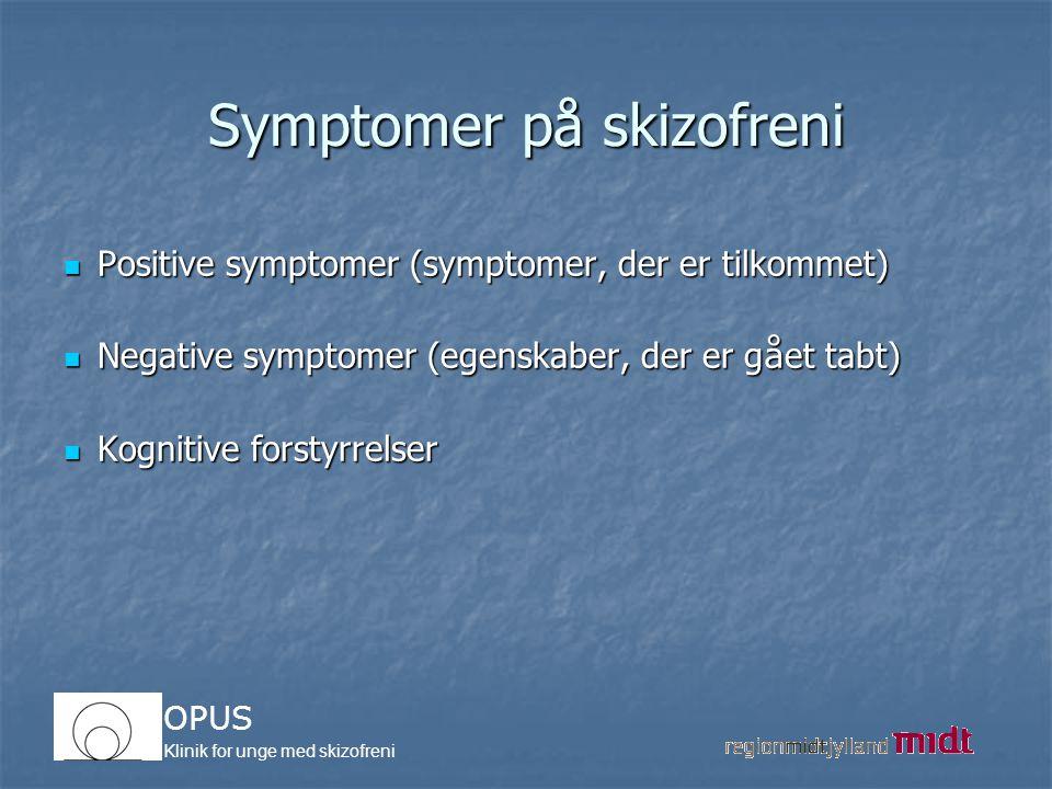 Symptomer på skizofreni