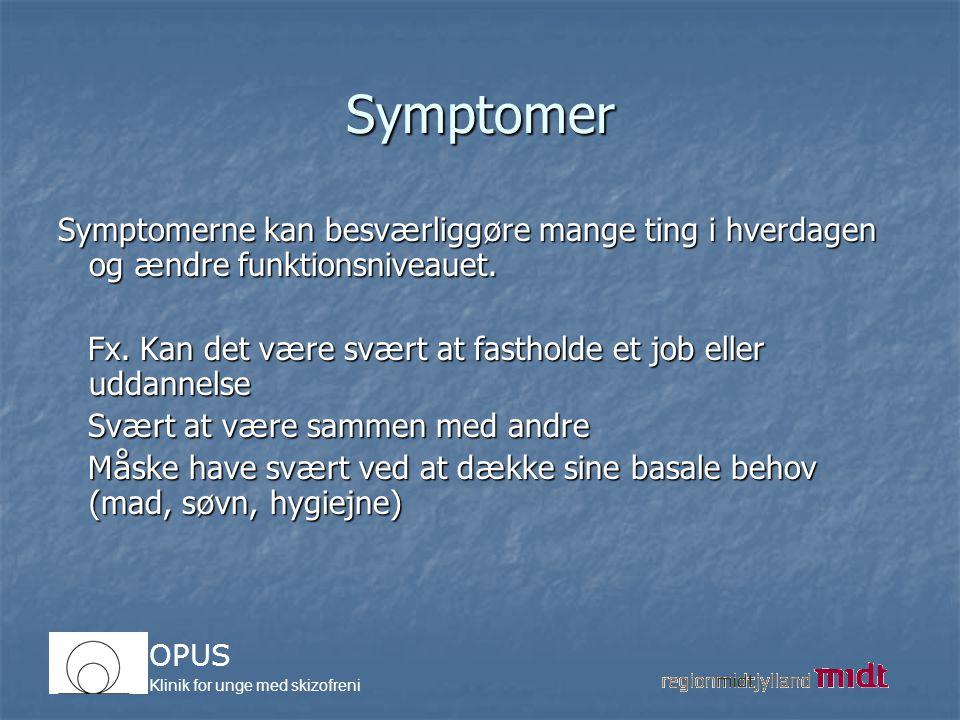 Symptomer Symptomerne kan besværliggøre mange ting i hverdagen og ændre funktionsniveauet.