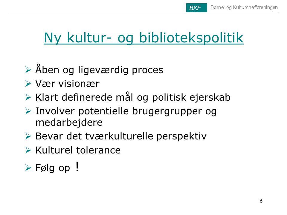 Ny kultur- og bibliotekspolitik