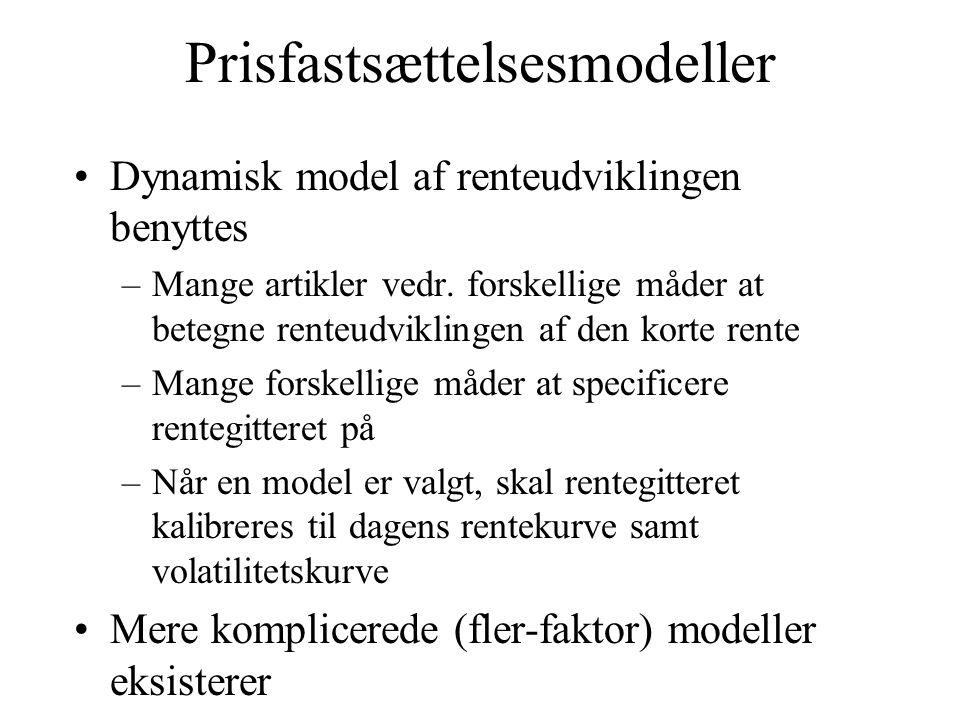 Prisfastsættelsesmodeller
