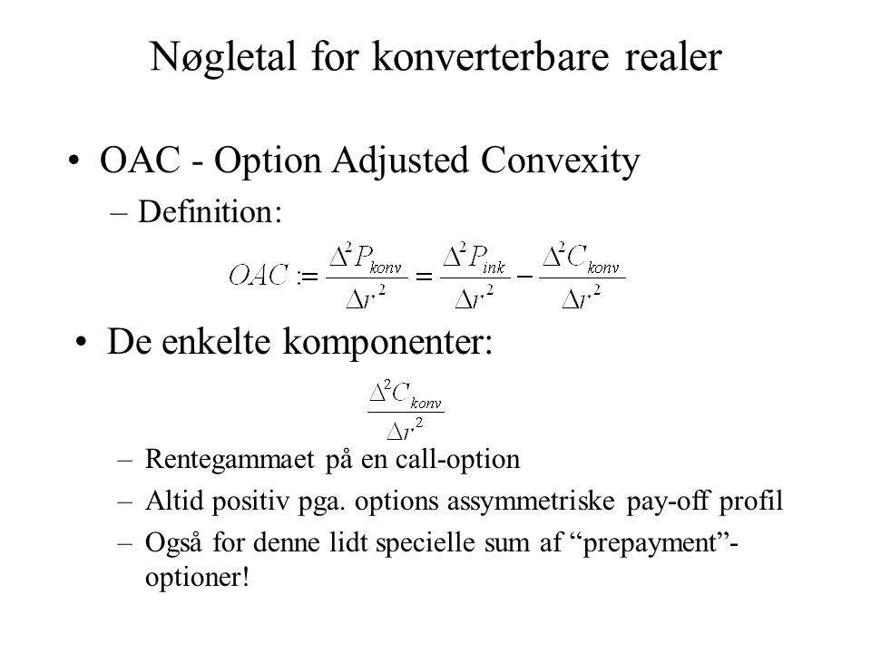 Nøgletal for konverterbare realer
