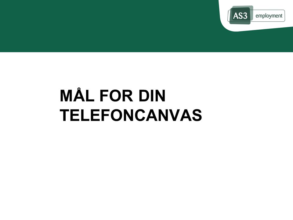 MÅL FOR DIN TELEFONCANVAS