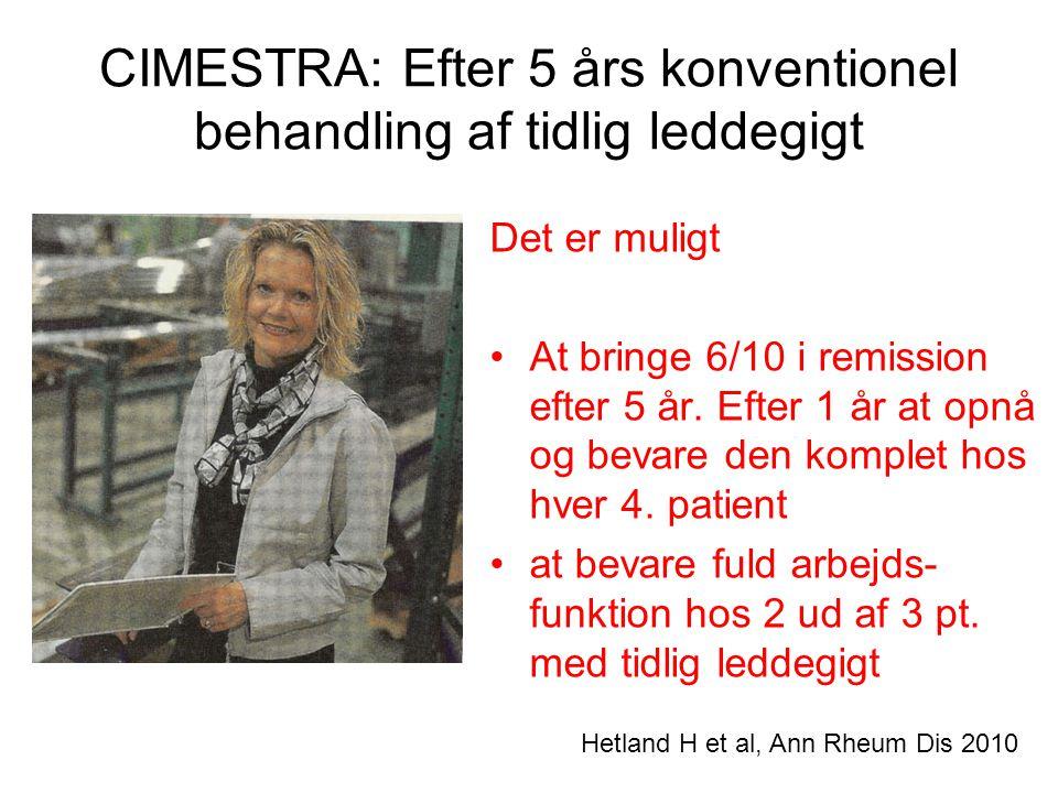 CIMESTRA: Efter 5 års konventionel behandling af tidlig leddegigt