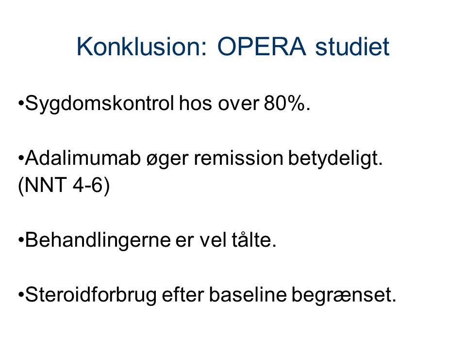 Konklusion: OPERA studiet