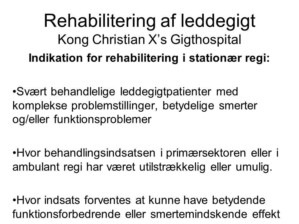 Rehabilitering af leddegigt Kong Christian X's Gigthospital