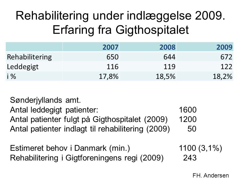Rehabilitering under indlæggelse 2009. Erfaring fra Gigthospitalet