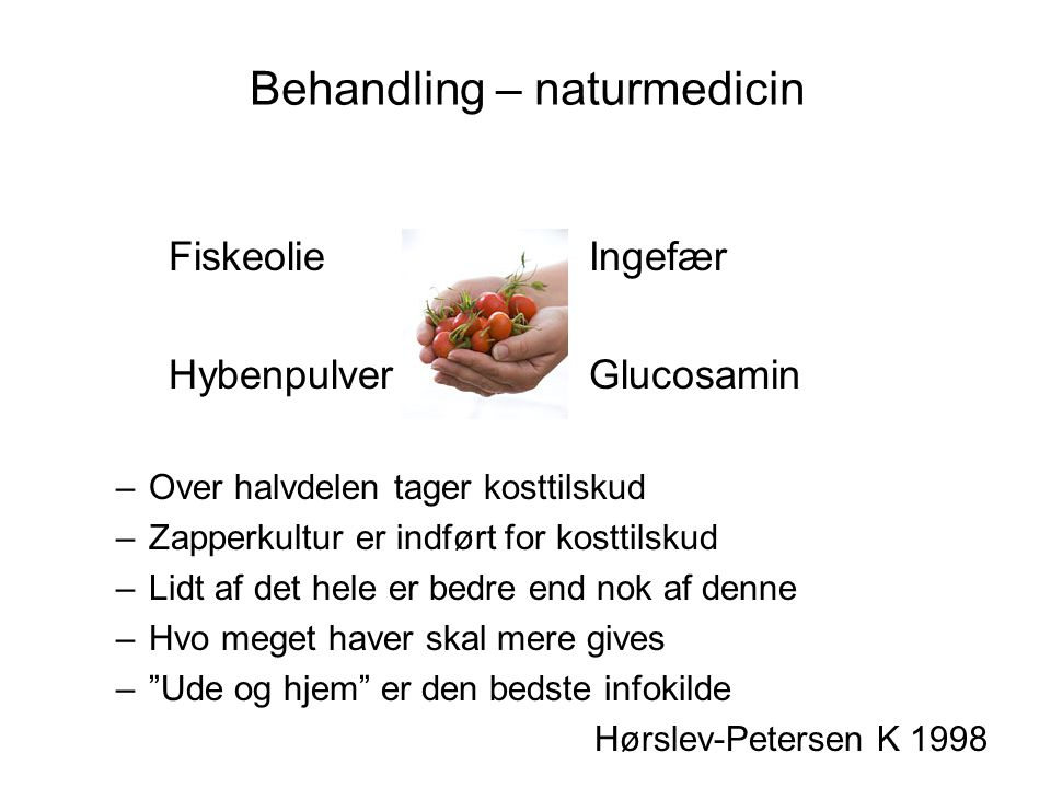 Behandling – naturmedicin